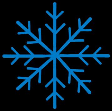 雪の結晶のイラスト(カラー)