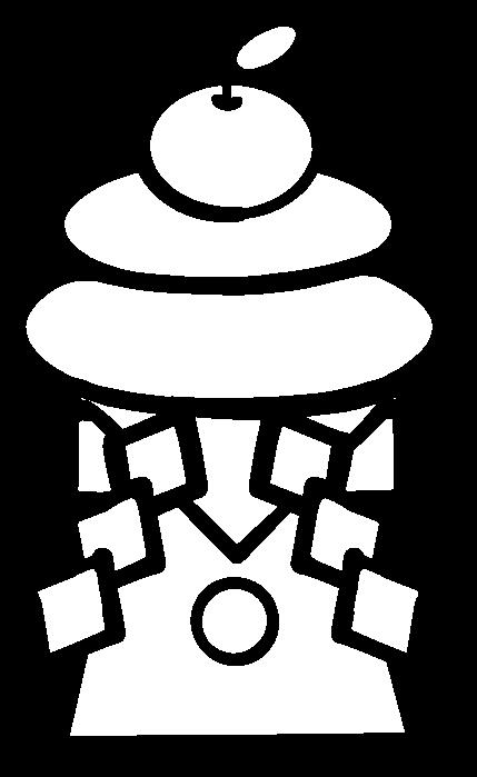 鏡餅の白黒イラスト