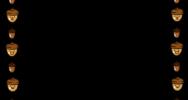どんぐりの囲み素材(カラー・白黒)