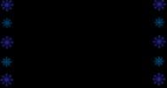 雪の結晶の囲み素材(白黒・カラー)