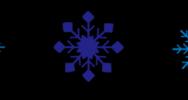 雪の結晶のライン素材(白黒・カラー)