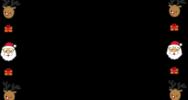 クリスマスの囲み素材(白黒・カラー)