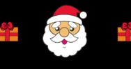 クリスマスのライン素材(白黒・カラー)