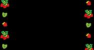 苺の囲み素材(カラー)