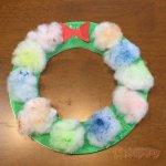 保育 製作 クリスマス リース 綿