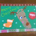 保育 製作 クリスマス カード トナカイ