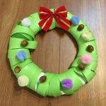 保育 製作 クリスマス リース