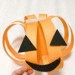 ハロウィンの製作でかぼちゃのくじ完成写真
