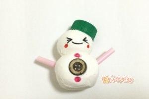 クリスマスの製作で雪だるまの完成写真
