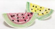 小さい子にも♪紙皿でできる、かんたんスイカの作り方