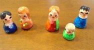 【飾りにも】紙粘土お人形さんの作り方