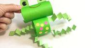 トイレットペーパーの芯でできる、可愛いカエルさんの作り方